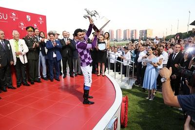 Jockey Winning Trophy