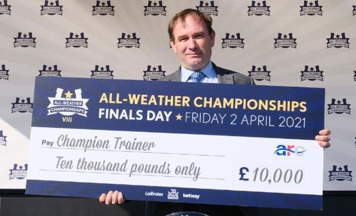 All Weather Winners Cheque